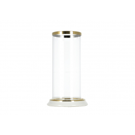 Świecznik RITA 12x21,5cm z kloszem  szklanym 9x20cm HTRD2225