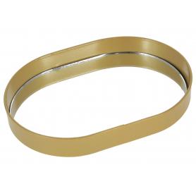 Metalowa Tacka lustrzana Lucas gold HTOP7587
