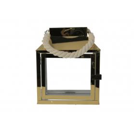Metal Latarnia Leonard Gold  20x13,5xh24,5  HTO0747