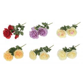 Kwiaty sztuczne: bukiet dużej róży