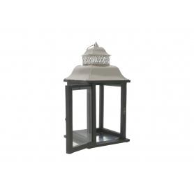 Drewniana latarnia LEVI SILVER  HTO2086