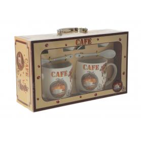 Ceramiczny komplet kubków Cafe 121147