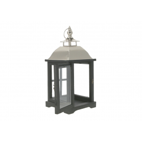 Drewniana latarnia LEVI SILVER  HTO1720