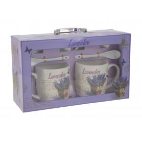 Ceramiczny komoplet kubków  Lavender 12463