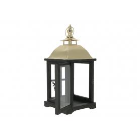 Drewniana latarnia LEVI GOLD  HTO1706