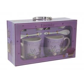 Ceramiczny komplet kubków Lavender 121269