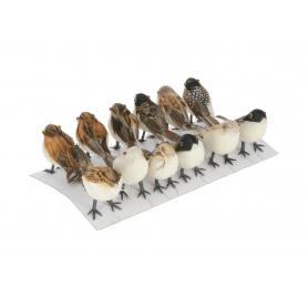 Ptaszki decoracyjne 12szt/kpl L127
