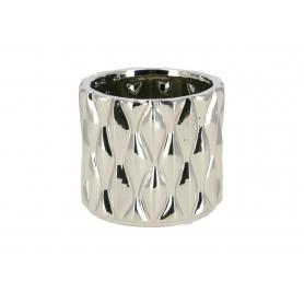 Ceramiczna doniczka LORELAI SILVER  HTTS6657
