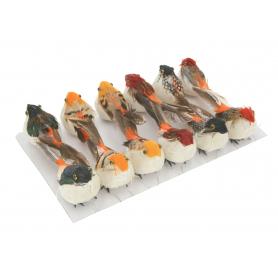 Ptaszki decoracyjne 12szt/kpl L123