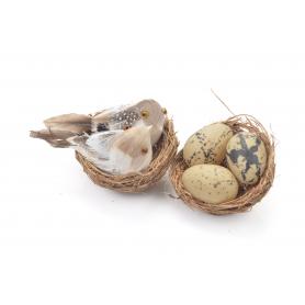 Wielkanocny zestaw gniazdo+ ptaszki