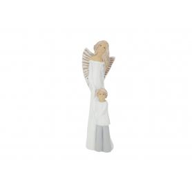 Ceramiczny Anioł Stróż z chłopcem 08069