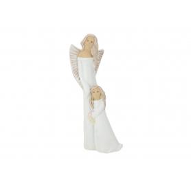Ceramiczny Anioł Stróż z dziewczynką 08068