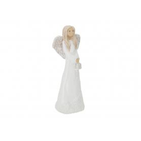 Ceramiczny anioł z latarnią Nina 08005