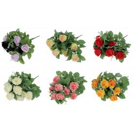Bukiet Róż z gipsówką x10 53441 72-10S