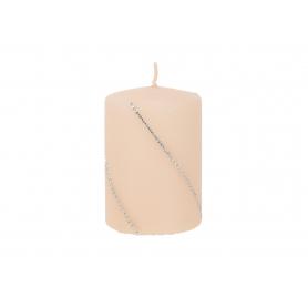 Świeca Bolero mat walec mały parafinowa 9286-rose gold