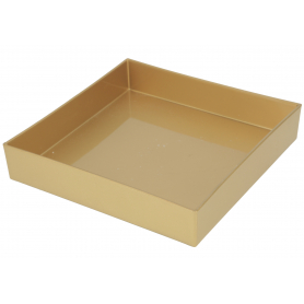 Podstawka plastikowa  kwadratowa złota