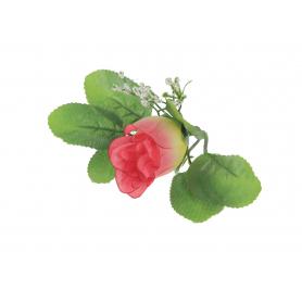 Pąk Róży z listkami główka kwiatowa