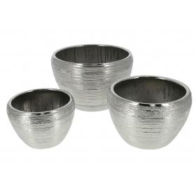 Ceramiczny kpl 3 doniczek NEVA SILVER HTYE9832
