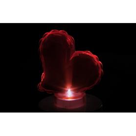 Wkład led Serce red z baterią -12red  8451R