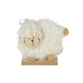 Drewniana figurka owieczka wielkanocna 9411736  YC94117-36