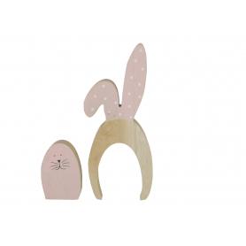 Drewniana figurka królik wielkanocny 9411742  YC94117-42