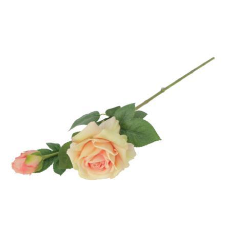 Róża gumowana gałązka 65cm 55325-02  GK333