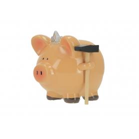 Ceramiczna skarbonka świanka z młotkiem 0459