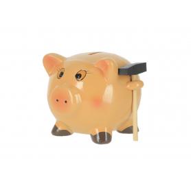 Ceramiczna skarbonka świnka z młotkiem 03368