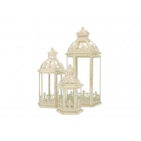 Metalowe latarnie dekoracyjne 3 szt 15603