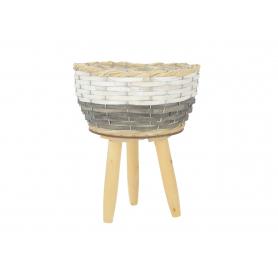 Wiklinowa osłonka na drewnianych nogach 03163