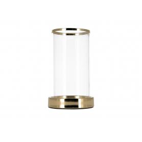 Świecznik kryształowy gold 07975L