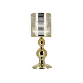 Świecznik szklany RITA  gold HTRD3626