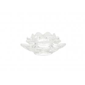 Szklany świecznik 12x5,5cm 49552