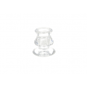 Szklany świecznik 5,5x5,5x5,7cm 01594