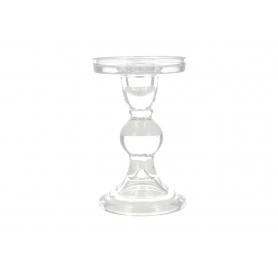 Szklany świecznik 8,5x8,5cm 82171