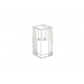 Szklany świecznik 4x4x8cm 20842