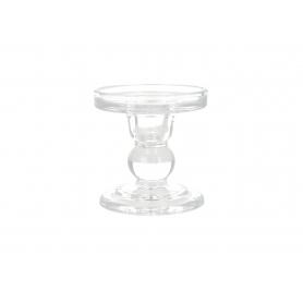 Szklany świecznik 8,4x8,4x8,5cm 8171