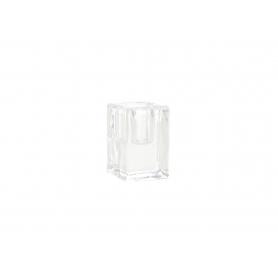 Świecznik szklany 4x4x6cm 20843