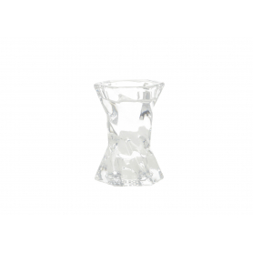 Szklany świecznik 6,2x5,5x8,8cm 11942
