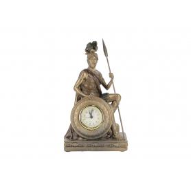 Figura żołnierza z zegarem polyresin