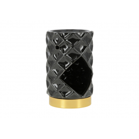 Ceramiczny kominek czarno-złoty HTTP5058