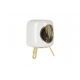 Ceramiczny kominek biały HTTP5041