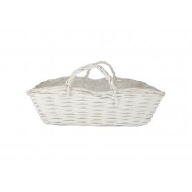 Wiklinowa osłonka torebka biała 29592