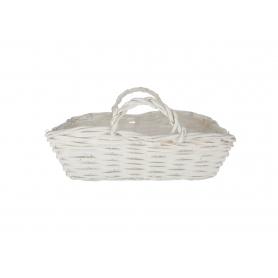 Wiklinowa osłonka torebka biała 29608