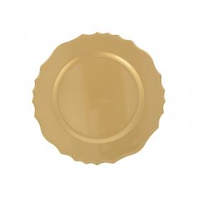 Podtalerz podstawka dekoracyjna złota 26492