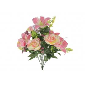 Bukiet Róż i Lilii z dodatkami 55402