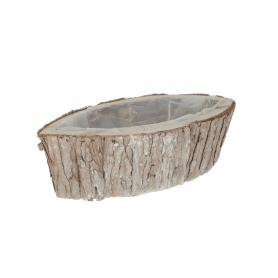 Osłonka doniczka łódka z kory 42054