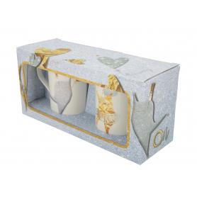 Ceramiczny zestaw 2 kubków NBC  Ślubne Art On/Ona 90530
