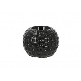 Ceramiczny świecznik czarny 9x9x7cm 791113