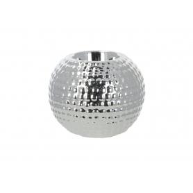 Ceramiczny świecznik 10x8cm  srebrny 99116
